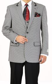 Buttons Plaid Tweed Vested