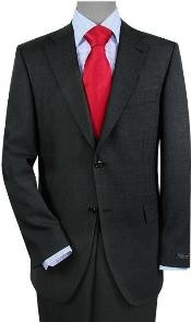 ID#QB1997 Two buttons Vented Gray Wedding / Prom Sharkskin No Pleats Cheap Priced Fitted Tapered cut Suit