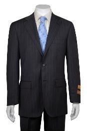 ID#WS112 Gray Wedding / Prom Multi Stripe - Pinstripe Two buttons Vented without pleat flat front Pants Wool fabric Suit