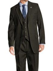 Collared green wedding suit