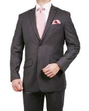 ID#UH2301 Two buttons Stripe ~ Pinstripe Suit Grey