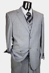 Grey 3 Piece Suits