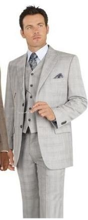 buttons Vested Light Gray