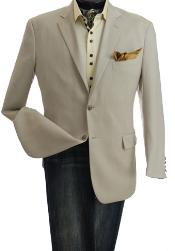 Single-Breasted Jacket Natural Color
