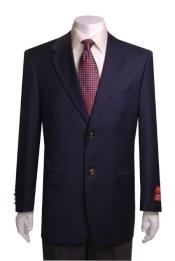 ID#NM1267 Mens Portly Blazer / Sport coat 2 Buttons Quality Navy