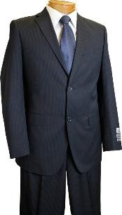 ID#KX2902 Two buttons Inexpensive ~ Cheap ~ Discounted Clearance Sale affordable online Reduced Price Extra Slim Fit Prom Navy Pinstripe suit