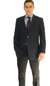 ID#NVY7062 Two buttons Navy Best Cheap Mens Wholesale Blazer Cheap Priced Unique Fancy Big Sizes Men Affordable Sport Coats Sale