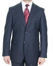 buttons Navy patterned Suit