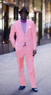 Two Button Pink Suit