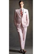 Two Buttons Pink Suit