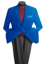ID#JR9400 Two buttons Classic Cotton/Rayon Best Cheap Blazer Suit Jacket For Affordable Cheap Priced Unique Fancy For Men Available Big Sizes on sale Men Affordable Sport Coats Sale Jacket Royal Light Blue Perfect for wedding