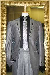 ID#JH8461 Two buttons Silver Prom ~ Wedding Groomsmen Tuxedo Formal Looking Inexpensive ~ Cheap