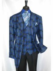 Two Buttons Twilight Blue Suit