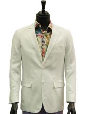 2 Buttons White Linen For Beach Wedding outfit Casual Best Cheap Blazer ~ Suit Jacket For Affordable Cheap Priced Unique Fancy For Men Available Big Sizes on sale Men Affordable Sport Coats Sale