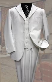 Two buttons White Tone Suit