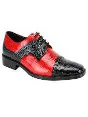 Black/Red Mens Two Tone