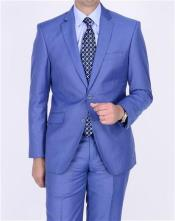 ID#AA389 Two buttons Teal Blue Cobalt ~ Bright Light Blue Perfect for wedding Indigo Cobalt Steel Darker Than Royal Color Suit