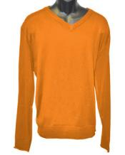 Neck Long Slevee Orange