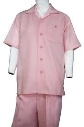 ID#DB24859 Vintage Grid Button Fastening Short Sleeve Walking Suit