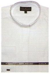 ID#TY611 65% Man Made Fiber Banded Collar dress Cheap Fashion  Clearance Shirt Sale Online For Men Indian Wedding Outfits ~ Mandarin ~ Nehru Collar Jacket Collarless Style White
