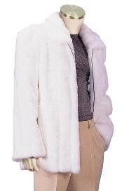 Mens Fur Coats White
