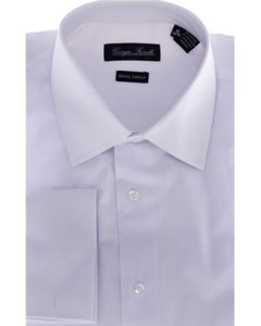 ID#HNF4897 Modern-Fit Dress Cheap Fashion Clearance Groomsmen Shirts Sale Online For Men Basic Solid Plain White