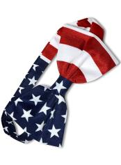 White/Red/Blue American Flag USA