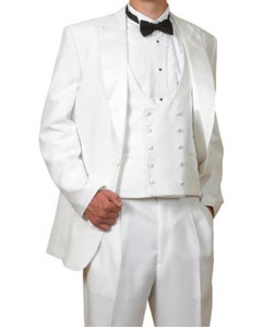Piece Complete White Tuxedo