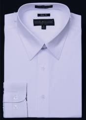 ID#KA5678 Slim Fit Dress Cheap Fashion Clearance Shirt Sale Online For Men - White Color