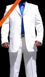 """ID#VS4030 Off White Suit White Three buttons """"Cool"""" Wedding Suits For Men For Sale + Free Tie"""
