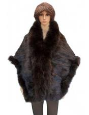 Fur Brown Genuine Knitted
