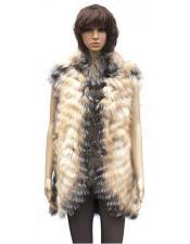 Handmade Fur Chevron Vest