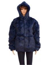 Fur Navy Blue Full