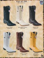 ID#2QD1 3X-Toe Genuine Elk western  Boots Diff. Colors/Sizes