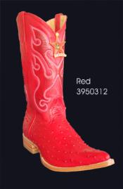ID#NS26 3X-Toe Printed Ostrich Western Boots by Authentic Los altos