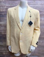 ID#VI20120 Yellow ~ Canary Two Buttons Best Cheap Blazer For Affordable Cheap Priced Unique Fancy For Men Available Big Sizes on sale Men Jacket Affordable Sport Coats Sale