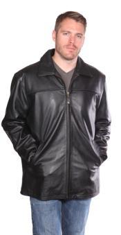 ID#PN_K39 Zachary Leather skin Hipster Dark color black