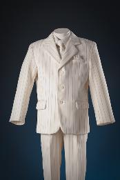 Ivory patterned 5 Piece Boy Suits for Men