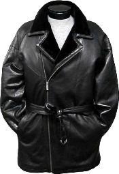 3/4-Length Coat with Belt