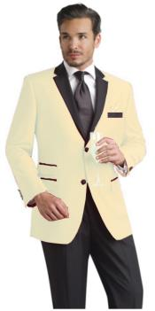 OFf White Two Button Notch Party Suit