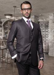 buttons Heather Charcoal Masculine