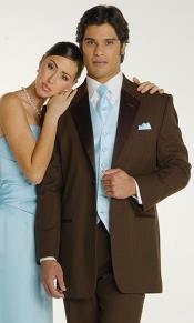 Brown tuxedo Suit