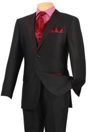 Dark color black red