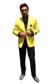 Button Sportcoat Jacket Yellow