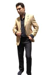 Button Sportcoat Jacket Camel
