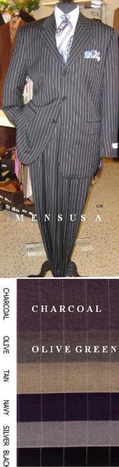 Button Sharp Pinstripe Superior