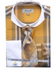Pattern French Cuff Shirt
