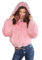 Fox Fur Coat Pink