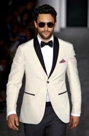 black Satin Lapels Wedding Suit