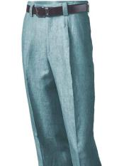 Blue Linen Pleated creased